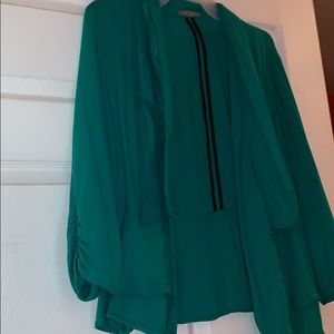 Charlotte Russe Tops - Green blouse!/cardigan soft material